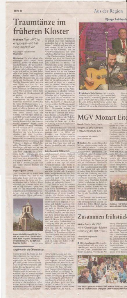 Rhein-Zeitung Bad Ems 25. Juni 2015